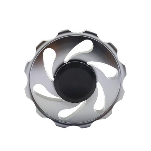 Новый металлический алюминиевый сплав вокруг EDC Hand Fidget Finger Spinner Gadgets Focus Tool Настольная игрушка Спиновый виджет для ADD ADHD Дети Взрослые Снимают стресс Беспокойство