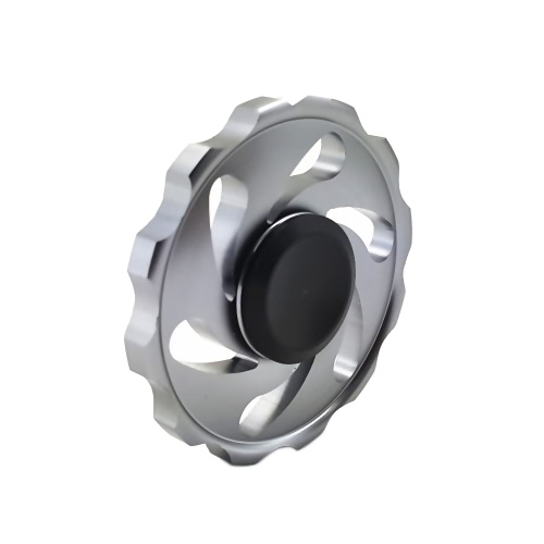 New Metal Aluminium Alloy Round EDC Hand Fidget Finger Spinner Gadgets Focus Tool Desk Toy Spin Widget for ADD ADHD Children Adults Relieve Stress Anxiety