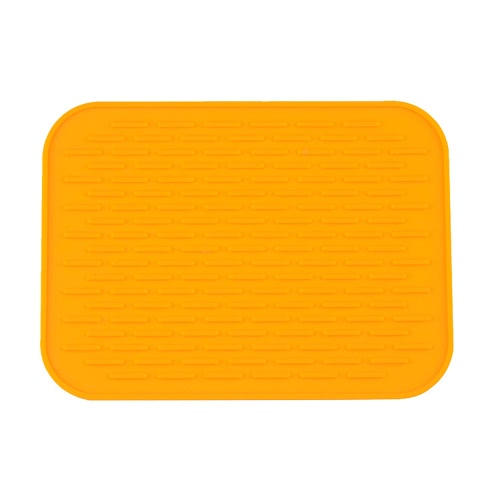 Square Stripe  Multi-functional Silicone Heat Resistant Pad Non-slip Kitchen Use Insulation Cushion Anti Ironing Casserole Mat Tray Pad  Yellow