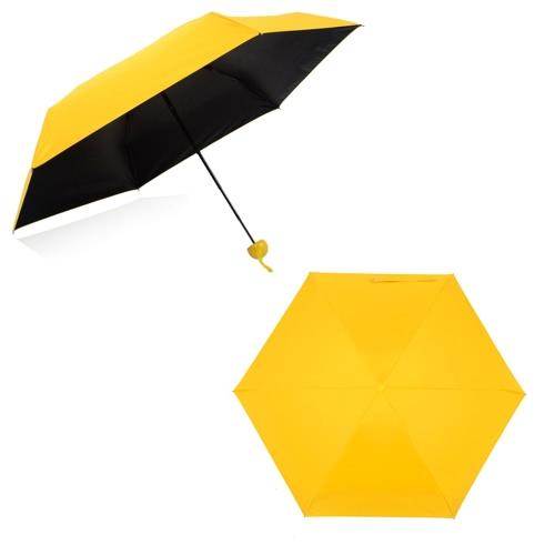 Creative Quality Capsule Mini Pocket Umbrella 5-Folding Anti-UV Umbrellas Women Men Compact Ultra Protective with Waterproof Case