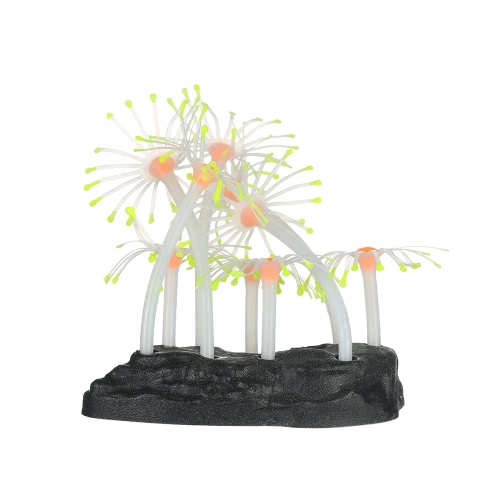 Effet incandescent Artificial Coral Plant for Fish Tank Aquarium Decoration Ornament Orange