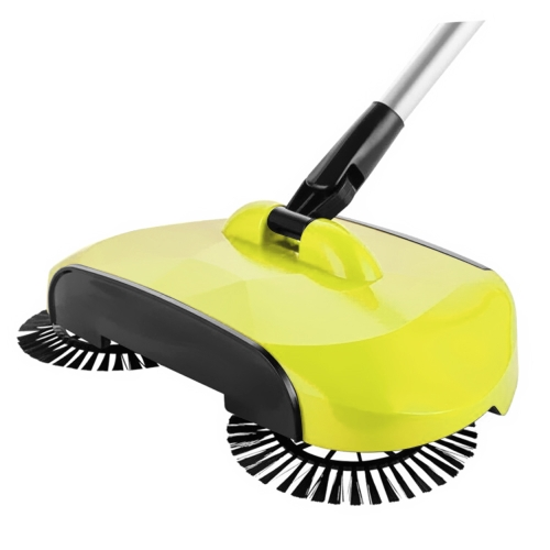Hand Push Sweeper Automatic Stainless Steel Sweeping Machine Handle Broom Household Floor Cleaning Package 360 Degree Rotation Sweep Dustpan