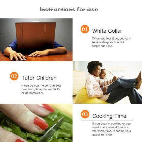 Cute Cartoon Hen Timer Mechanical Timer Countdown Timer Lovely Kitchen Cooking Children Homework Resting Timer