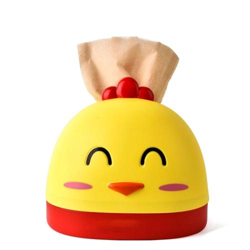 Caja de pañuelos creativa RB294 Animal de dibujos animados lindo Sala de estar en forma de pollo Servilletero de papel Toalla cubierta de toallas