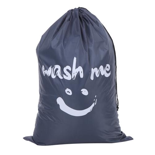 Многофункциональный большой складной нейлоновый мешок для прачечной Грязная сумка для хранения одежды с застежкой Drawstring для дома Laundromat Travel - Blue