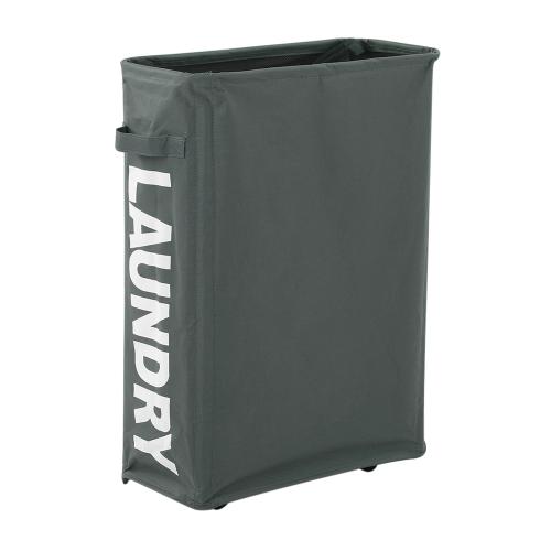 2 Секции Складная X-рамка Оксфордская корзина для белья Стрижка для корзины с корзиной для грязной одежды с отделяемыми алюминиевыми рамами