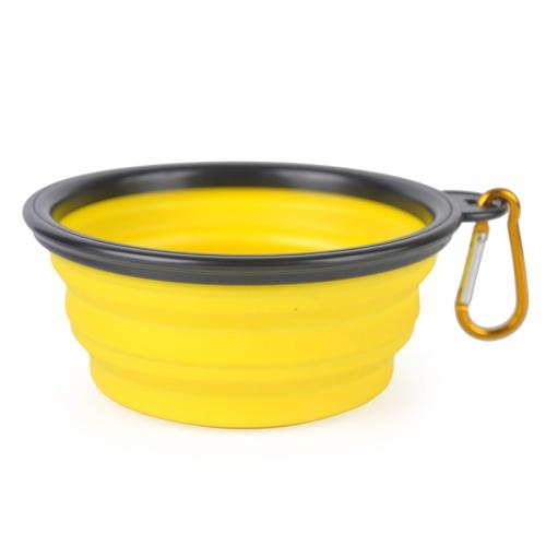 Складная силиконовая чашка для собак с собакой Портативная силиконовая чаша для домашних животных Складная собака Продовольственная и водная техника Расширяемая тарелка для посуды для кормления кошек