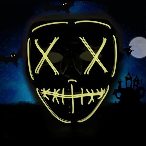 Adulti Halloween Green LED Light Up Mask Costumi di Halloween