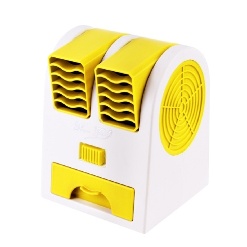 Portable Bladeless Table Fan Double Wind Outlet Perfume Mini Air Cooler фото
