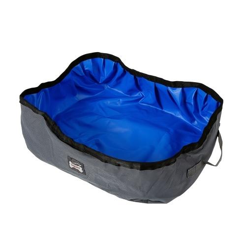 Faltbare Katzentoilette Tragbare wasserdichte Oxford-PVC-Einstreu
