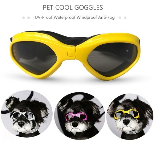Pet Sun Glasses Pet Goggles Waterproof Windproof Anti-Fog Eye Protection Glasses for Dogs Puppy