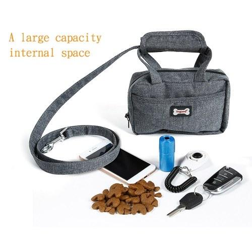 Correa para mascotas Bolsa impermeable para perros Correa para caminar con bolsa de transporte funcional Conjunto Poopbag Dispenser Treat Bag para perros