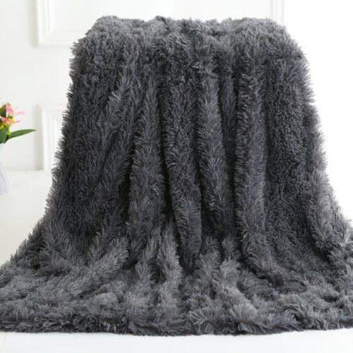 Long Fur Throw Blanket Super Soft Long Shaggy Faux Fur