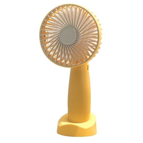 Ручной вентилятор с основанием Портативный мини-вентилятор 2-скоростной малошумный персональный настольный вентилятор для туристического кемпинга Office для дома Настольный USB-вентилятор фото