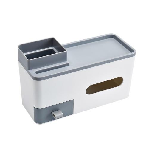 Organizador de mesa com caixa de armazenamento de maquiagem de gaveta