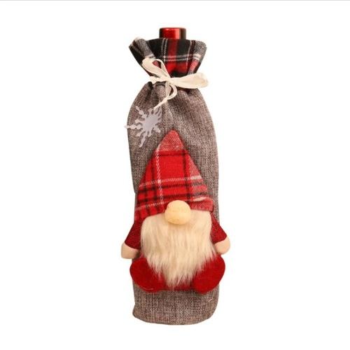 Weihnachtswein Flaschenabdeckung Weihnachtsmann Muster Champagner Flaschenhalter Abdeckung