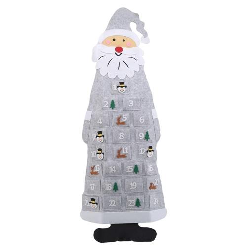 Ornamenti per alberi di Natale in feltro fai da te da 44 pollici