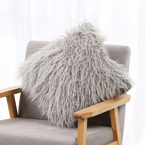 Faux Fur Pillow Case Soft Long Cushion Cover 18x18 Inch