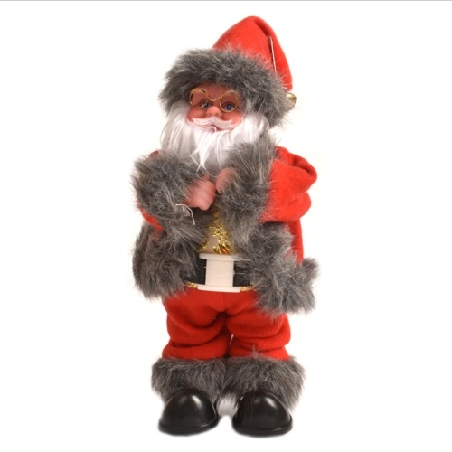 Musica elettrica rotante luminosa Babbo Natale