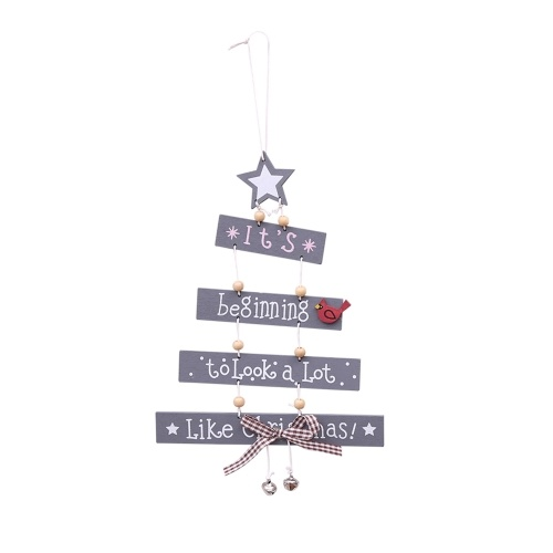 Christmas Xmas Wooden Door Hanging Decoration