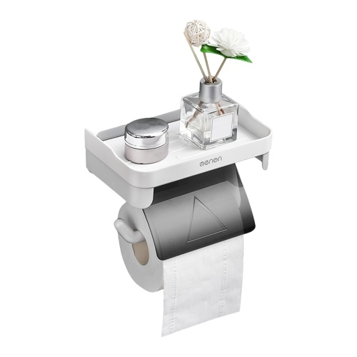 Paper Towel Holder with Shelf Without Drilling for Kitchen Bathroom