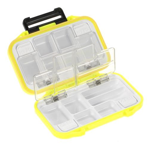 12 Compartimentos Estuche de Almacenamiento Impermeable Mosca Pesca Señuelo Cuchara Gancho Bait Tackle Box Orange
