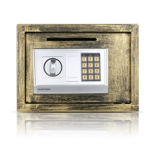 iKayaa Steel Digital Electronic Safe Box Cash Jewelry Gun Security Keypad Lock for Home Office Hotel + Mounting Kits