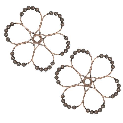 12 unids / set anzuelos de cortina de ducha ganchos para ducha varilla de acero inoxidable a prueba de herrumbre ganchos de la cortina establecen rodamiento de bolos gancho