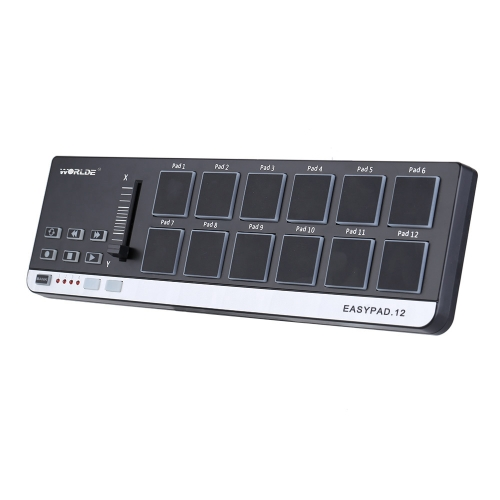 Worlde EasyPad.12 Portable Mini USB 12 Kontroler MIDI Drum Pad
