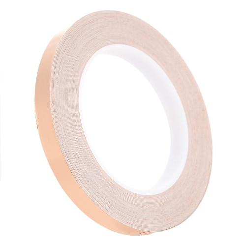1.2cm * 30m Copper Foil Tape One Side Single Conductive Self Adhesive EMI Shielding Screening Slug and Snail Barrier for Electric Guitar Bass