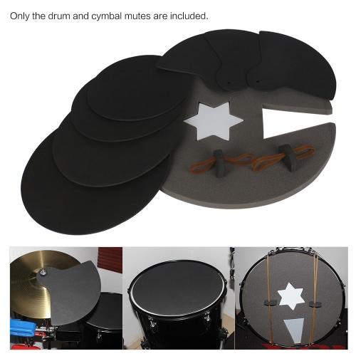 8-Piece Drum Set Глушитель колодки практика Mute с Cymbal Приглушает фото