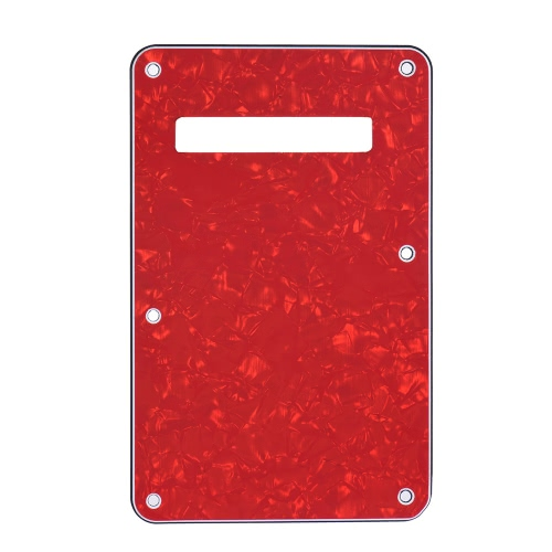 Pickguard Tremolo Cavity Cover Backplate Guitar Back Plate 4Ply for Fender Stratocaster Electric Guitar Pearl Red