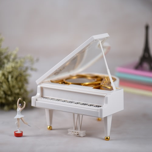 Wind-up Mechanical Piano Musical Music Box Classical Melody