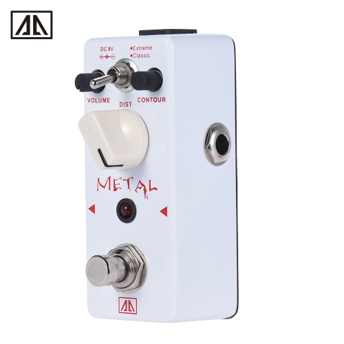 AROMA AHOR-5 Classic Heavy Metal Distortion Guitar Effect Pedal 2 Modes Aluminum Alloy Body True Bypass