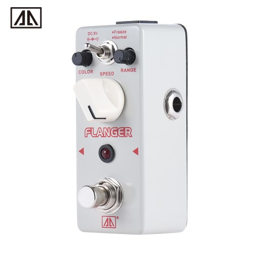 AROMA ATR-5 Classic Analog Flanger Guitar Effect Pedal 2 Modes Aluminum Alloy Body True Bypass