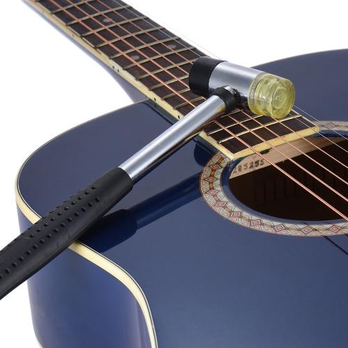 ギターベースウクレレマンドリンのためのツールのインストール双頭ゴムハンマーマレット取り外し可能な交換可能なフレットフレットボード透かし彫り