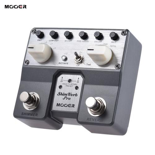 MOOER ShimVerb Pro Pedal Reverb per chitarra Effetto digitale con Shimmer Effect 5 riverbero Modalità Doppia pedale