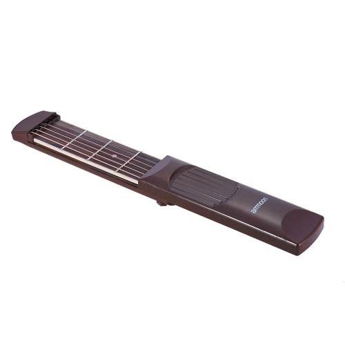 ammoon tasca portatile chitarra acustica di pratica di gadget Chord Trainer 6 corde 4 Fret Modello tastiera in palissandro del grano di legno per principianti come lingua straniera