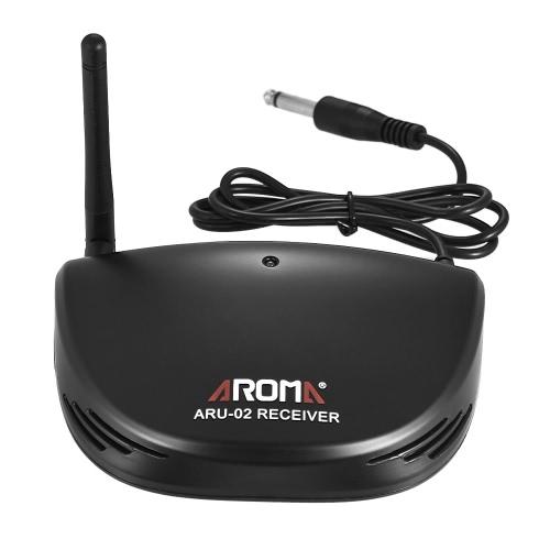 アロマARU-02プロ用充電式UHFワイヤレスデジタルオーディオ送信トランスミッタレシーバシステム(ギターベース用USBケーブル付)