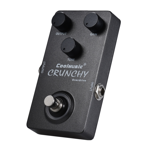 Electric Guitar Analog Overdrive Effect Pedal True Bypass Full Metal Shell