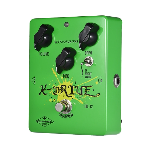 BIYANG OD-12 Classic Series Analog Overdrive Guitar Effect Pedal 3 Modes True Bypass Full Metal Shell