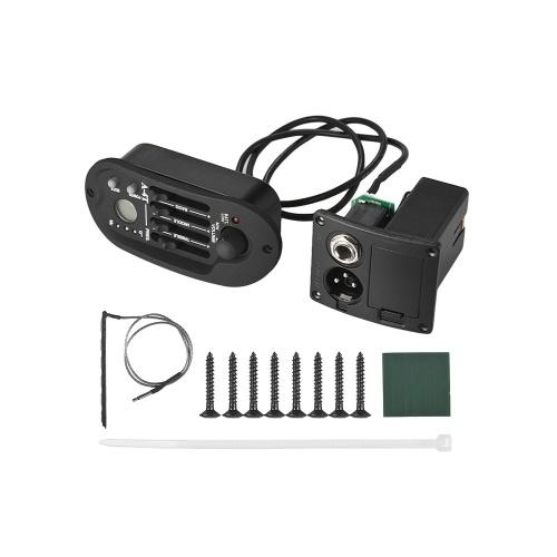 Guitare acoustique 4 bandes EQ égaliseur ton volume amplificateur préampli piezo avec affichage LCD