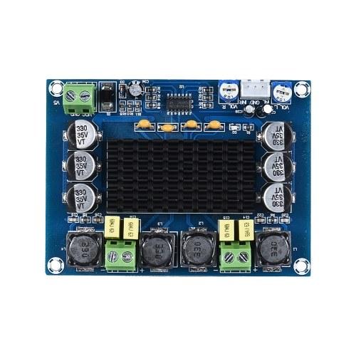 Module d'Amplificateur de Puissance Audio à Double Voie 120 W + 120 W Conseil d'Amplificateur Stéréo Digital Amplifier Carte de Circuit Bricolage pour Voiture Véhicule Ordinateur Haut-Parleur DIY Système de Son