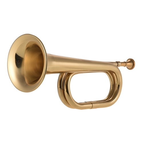 B Flat Bugle Call Trumpet Brass Cavalry Horn with Mouthpiece