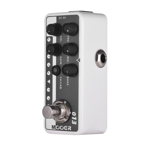 Mooer MICRO PREAMP Series 013 MATCHBOX Classic American Style Digital Preamp Preamplifier Guitar Effect Pedal Dual Channels 3-Band EQ with True Bypass