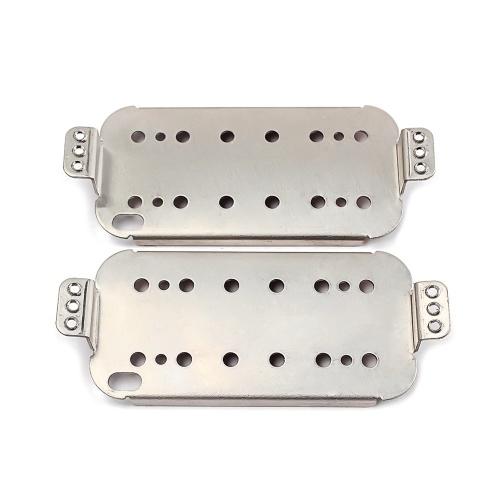 2本エレキギターハムバッカーピックアップベースプレートCupronickel材料スライバー