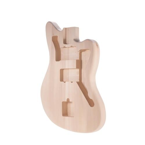 Muslady MZB-T DIY Guitarra Elétrica Inacabada Corpo Barril Da Guitarra Em Branco Basswood Guitarra Peças De Reposição Do Corpo para o Mustang Guiatrs