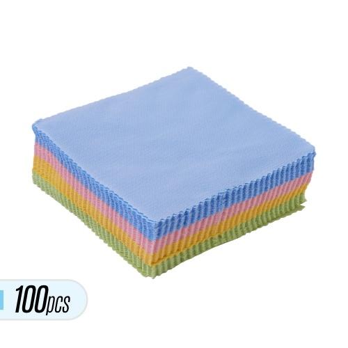 100 stücke 5,04 * 4,72 Zoll Mikrofaser Reinigungspoliertuch Musikinstrument Reiniger