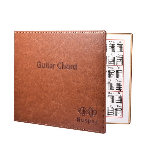 Guitar Chord Book Chart PU Leather Cover