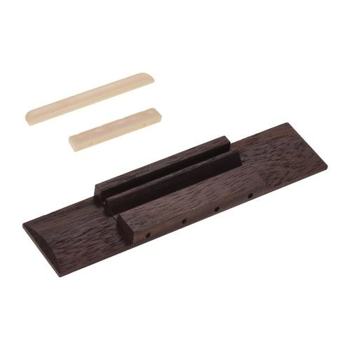 4弦ウクレレ用ウクレレDIYパーツローズウッドブリッジプラスチックサドルとナット